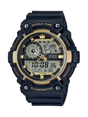 Casio Collection Herrenuhr Analog Quartz Resin Schwarz AEQ-200W-9AVEF