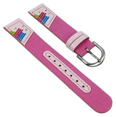 Minott | Kinder Uhrenarmband 14mm | Pink mit Buntstiften 29823 – Bild 1
