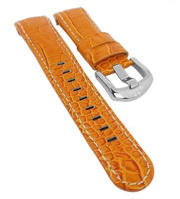 TW STEEL Grandeur Uhrenarmband 22mm | Leder orange Krokooptik für TW52 – Bild 1