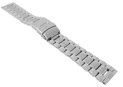 Uhrenarmband Edelstahl | massiv mit Sicherheitsfaltschließe 29924 – Bild 1