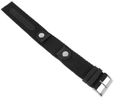 s.Oliver | Uhrenarmband aus Textilgewebe schwarz 18mm SO-1556-LQ – Bild 1