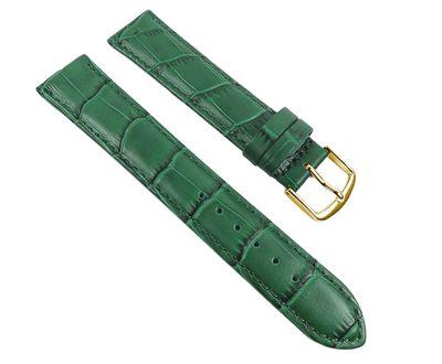 Eulit Guinea Uhrenarmband | Kalbsleder, grün in Louisiana-Optik 30048 – Bild 1