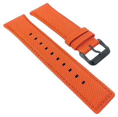 Hugo Boss Orange 1513010 | Uhrenarmband 24mm Materialmix orange 30107B – Bild 1