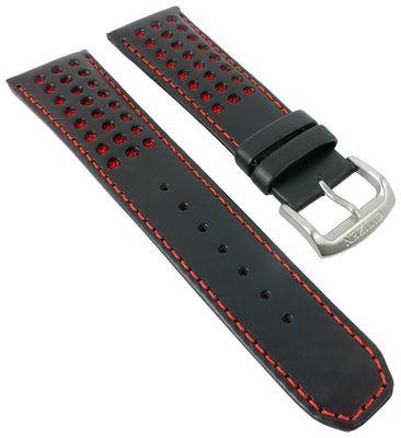 Citizen Red Arrows | Uhrenarmband Leder schwarz/rot 23mm AT8060-09L – Bild 1