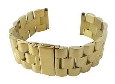 Uhrenarmband 22mm | Massiv Edelstahl hochwertige Verarbeitung 30114 – Bild 3