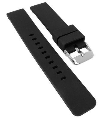 Minott Uhrenarmband | Silikon, schwarz mit Breitdornschließe 30116