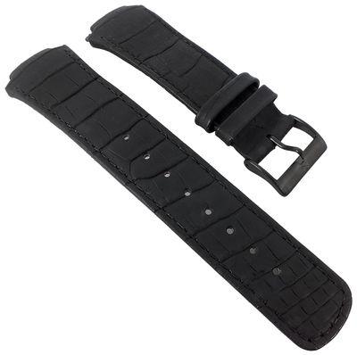 Skagen Uhrenarmband Leder Krokooptik schwarz zum Verschrauben 856XLBLB – Bild 1