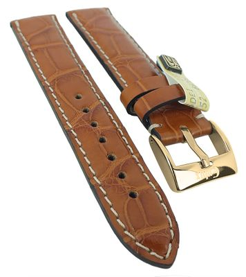 Alligator Highline Uhrenarmband | Alligator-Leder, hellbraun 30395 – Bild 1