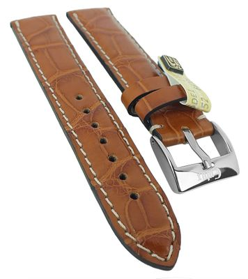 Alligator Highline Uhrenarmband | Alligator-Leder, hellbraun 30395 – Bild 2
