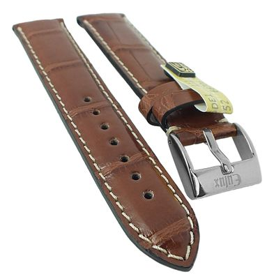 Alligator Highline Uhrenarmband | Alligator-Leder, nussbraun 30396 – Bild 1