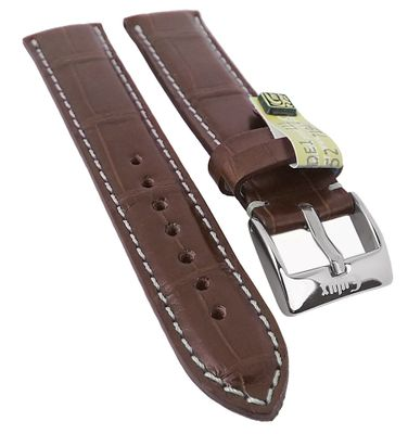 Alligator Highline Uhrenarmband | Alligator-Leder, mahagonibraun 30397 – Bild 2