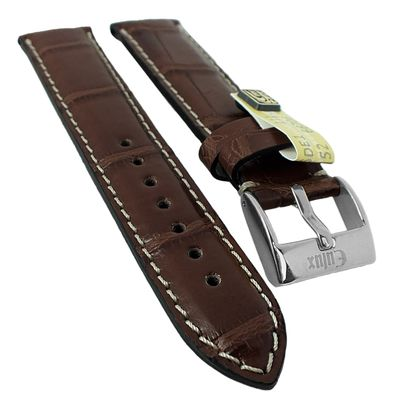 Alligator Highline Uhrenarmband | Alligator-Leder, dunkelbraun 30399 – Bild 1