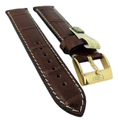 Alligator Highline Uhrenarmband | Alligator-Leder, dunkelbraun 30399 – Bild 2