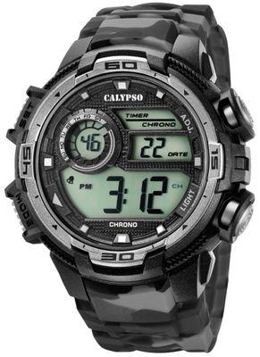Calypso | Herrenuhr digital Quarz mit Alarm schwarz/grau K5723/3
