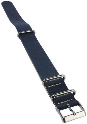 Timex Weekender Durchzugsband-Band Leder blau 20mm TW2P62100 – Bild 1