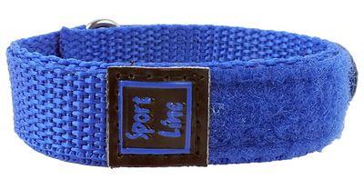 Minott Sport-Line   Uhrenarmband Durchzugsband Klettband Blau 16mm – Bild 2