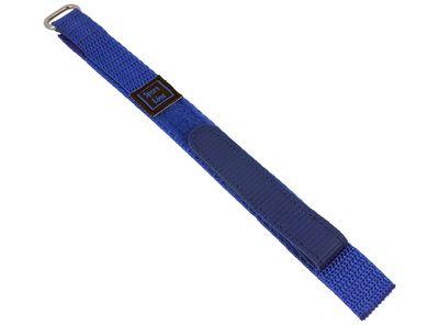 Minott Sport-Line   Uhrenarmband Durchzugsband Klettband Blau 16mm – Bild 1