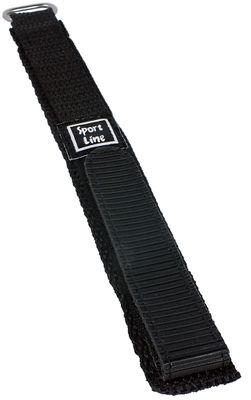 Minott Sport-Line   Uhrenarmband Durchzugsband Klettband Schwarz 16mm – Bild 1