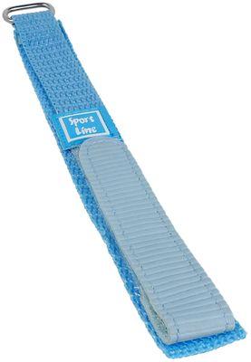 Minott Sport-Line | Uhrenarmband Durchzugsband Klettband Blau 16mm – Bild 1