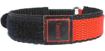 Minott Tavolino | Uhrenarmband Durchzugsband Klettband Schwarz/Rot 14mm – Bild 2