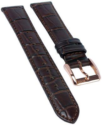 Hugo Boss 1502313 | Uhrenarmband aus Leder Krokoprägung braun 16mm – Bild 1