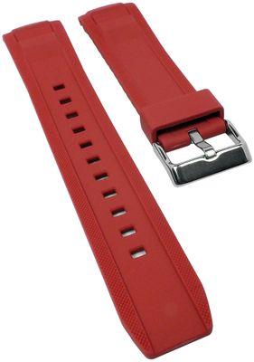 Uhrenarmband Casio | Ersatzband Resin rot für Collection MTP-1316 – Bild 1