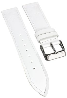 Armband Collection | Leder weiß Damenuhrarmband Casio LTF-122L – Bild 1