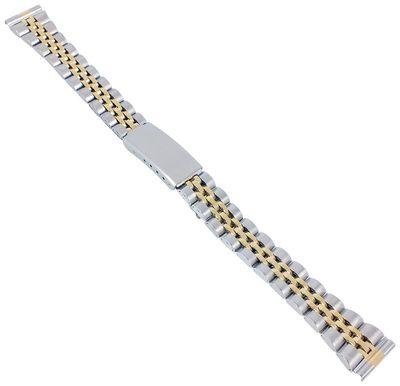 Minott Uhrenarmband 14mm | Edelstahl bicolor feingliedrig 30611Bi