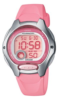 Casio Collection | Kinderuhr digital rosa Stoppfunktion LW-200-4BVEF