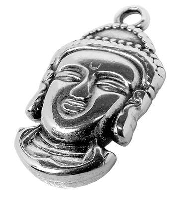 Minott Schmuck Anhänger | Buddha Messing, versilbert - Used Look 30658