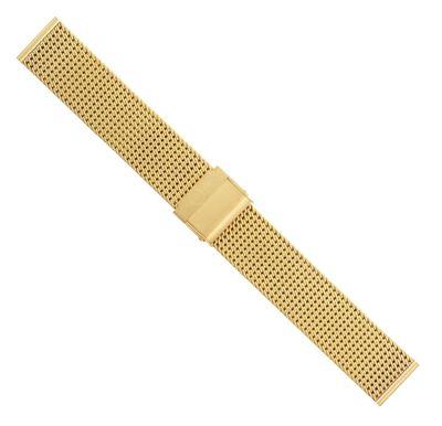Minott Uhrenarmband Milanaise Edelstahl glänzend gelbgoldfarben 30674 – Bild 2