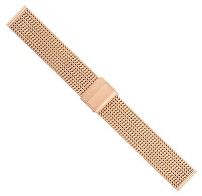 Minott Uhrenarmband Milanaise Edelstahl glänzend rosegoldfarben 30678 – Bild 2