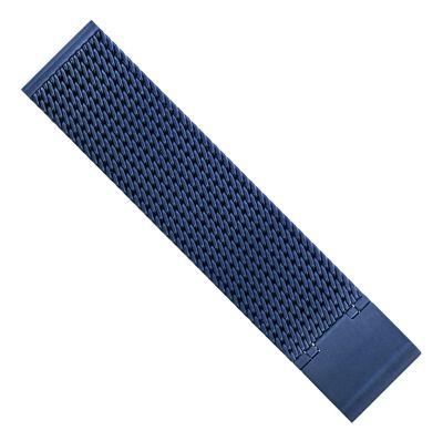 Minott Uhrenarmband Milanaise Edelstahl glänzend blau 30685 – Bild 4