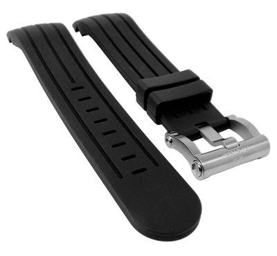 TW STEEL Uhrenarmband 24mm | Silikon schwarz TW-608 TW-611 TW-602 – Bild 1