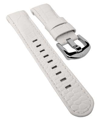 TW STEEL Uhrenarmband | Leder weiß 22mm Dornschließe TWB118 – Bild 1