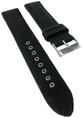 Casio Uhrarmband | Ersatzband Leder/Textil schwarz Wave Ceptor WVA-M630B – Bild 1