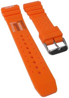 Minott Taucherband orange | Uhrenarmband Kunststofff weich 30819S