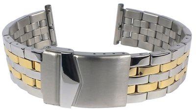 Minott   Uhrenarmband Edelstahl glänzend bicolor 30891 – Bild 2