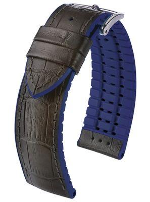 HIRSCH Performance   Uhrenband Leder/Kautschuk Alligator-Optik 30959S
