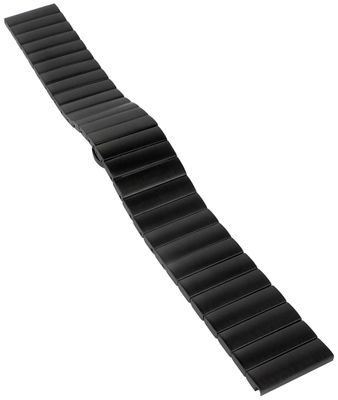 Minott | Uhrenarmband Edelstahl massiv mattiert schwarz 31164B