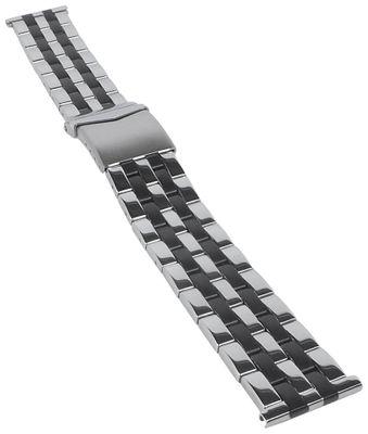 Minott | Uhrenarmband Edelstahl hochglanz/matt bicolor 31171Bi