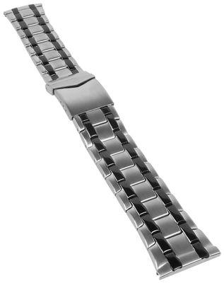 Minott Uhrenarmband | Edelstahl bicolor silbern/schwarz 31172Bi