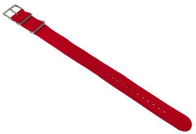 Timex Uhrenarmband | Nato-Band Textil rot 20mm T2N751 T2N651 T2N652 – Bild 1