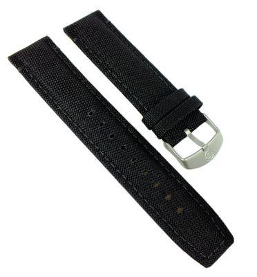 Timex Ersatzband┃Uhrenarmband Textil-Leder mit Naht 22mm für T49863 – Bild 1