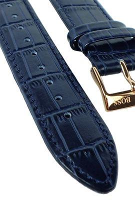Hugo Boss 1513371 Uhrenarmband 20mm | Leder, blau, Dornschließe 31374 – Bild 2