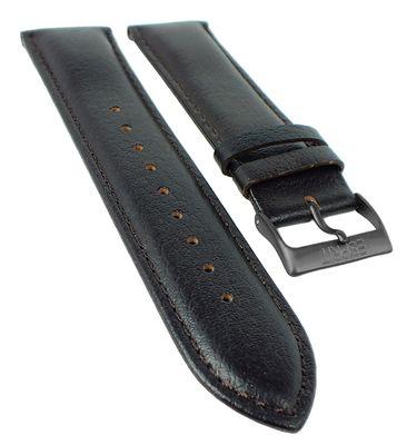 Esprit Uhrenarmband | Leder genarbt 23mm dunkelbraun für  ES106351003