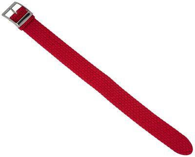 EULIT Uhrenarmband | Durchzugsband Perlon / geflochten / rot / 31459