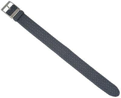 EULIT Uhrenarmband | Durchzugsband Perlon / geflochten / grau / 31462