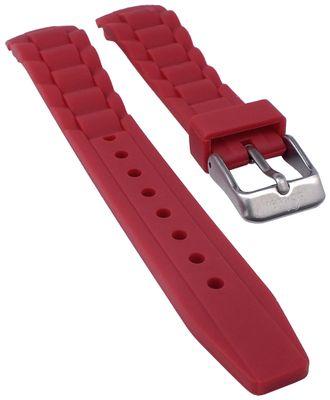 s.Oliver Uhrenarmband | Silikon sehr weich rot 17mm für SO-2594-PQ – Bild 1