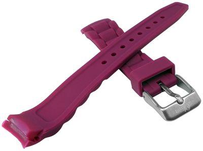 s.Oliver Uhrenarmband | Silikon sehr weich himbeere 17mm für SO-2595-PQ – Bild 2